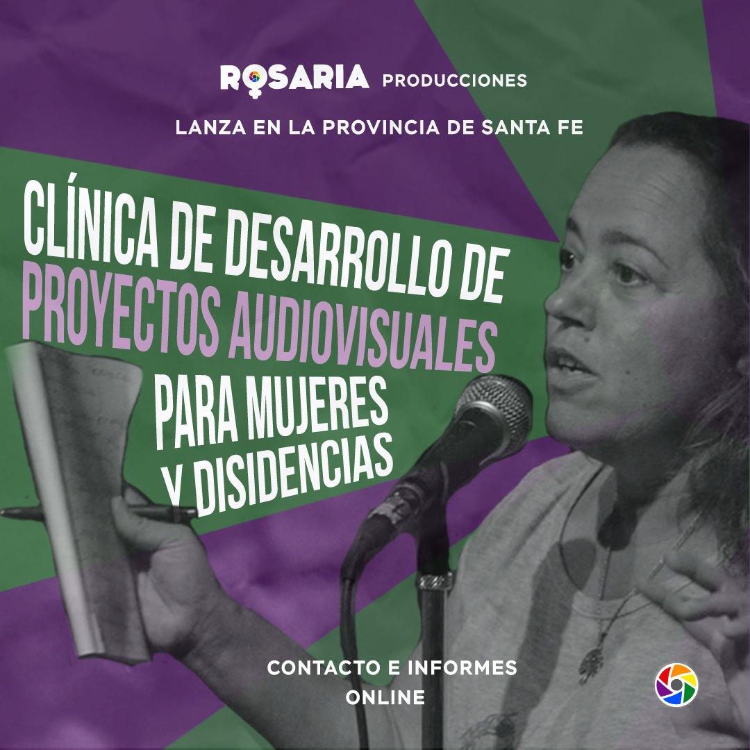Anuncio Clínica de desarrollo de proyecto auidovisual para mujeres y disidencias