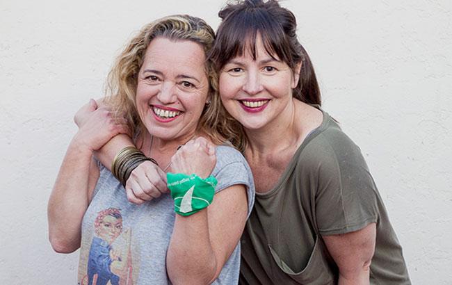 Maria Langhi y Judith Battaglia Rosaria Producciones
