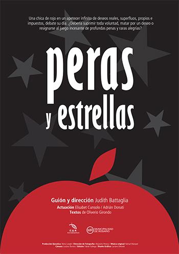 Afiche Peras y Estrellas, realización Rosaria Producciones